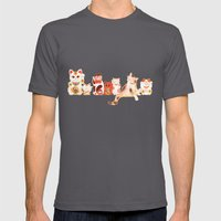 Maneki Neko Mens Fitted Tee Asphalt SMALL