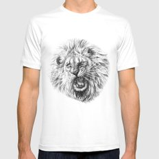 Lion roar G141 SMALL Mens Fitted Tee White