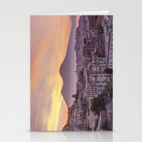 Napoli, landscape with volcano Vesuvio and sea Stationery Cards