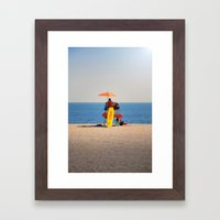 Coney Framed Art Print