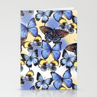 Pattern with butterflies Stationery Cards
