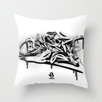 3D graffiti - dream Throw Pillow