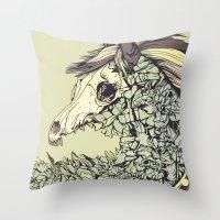 Beautiful Horse Old Throw Pillow