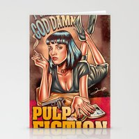Mia Wallace - Pulp Fiction Stationery Cards