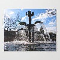 Artistic fountain Canvas Print