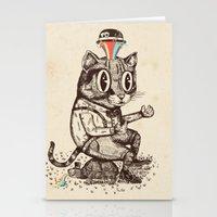 Strange Cat Stationery Cards
