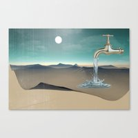 Filling The Void Canvas Print