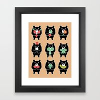 Vegi Bears Framed Art Print