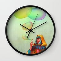 Bubbles of Color Wall Clock