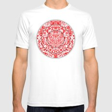 Illusionary Daisy (Red) SMALL Mens Fitted Tee White