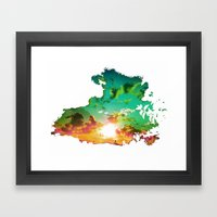 A Cut Out Of Life Framed Art Print