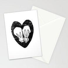 Huddling Rabbits Stationery Cards
