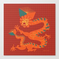 Dragon Quetzalcoatl Canvas Print