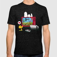 Duck Game Mens Fitted Tee Tri-Black SMALL
