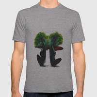 BROCCOLI Mens Fitted Tee Athletic Grey SMALL