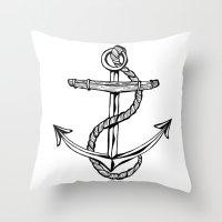 Anchor Throw Pillow