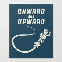Onwards & Upwards! Canvas Print