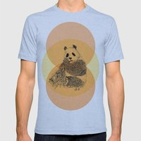 saving panda Mens Fitted Tee Athletic Blue SMALL