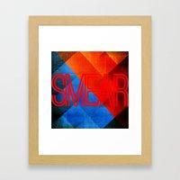 smear 1 Framed Art Print