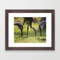 Family Feast Framed Art Print