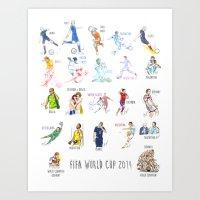 FIFA World Cup 2014 Moments! Art Print