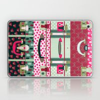 Pink Patterned Suitcases Laptop & iPad Skin