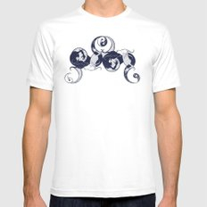 Yin & Yang White Mens Fitted Tee SMALL