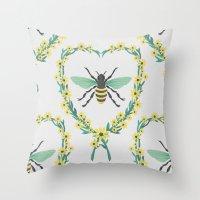 BEES KNEES Throw Pillow