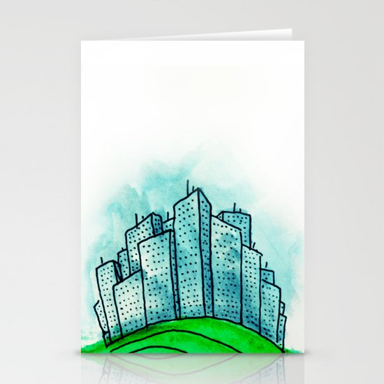 City on a Hill Stationery Card