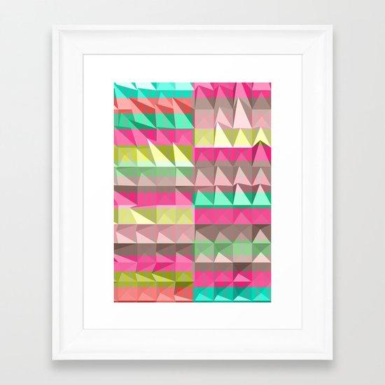 Pyramid Scheme Framed Art Print
