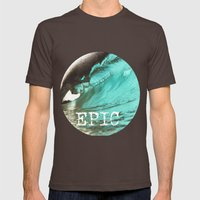 EPIC SURF  Mens Fitted Tee Brown SMALL