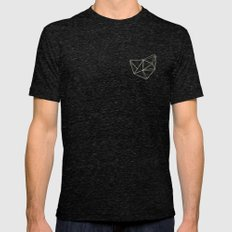 Geo Mens Fitted Tee Tri-Black SMALL