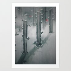 The Woods in Winter Art Print