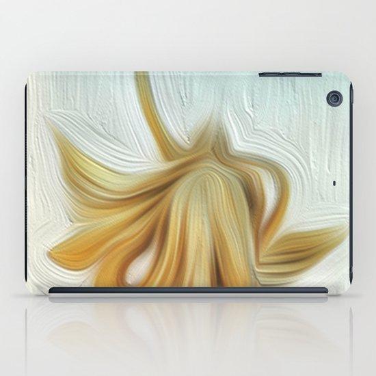 golden hair iPad Case