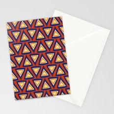Blue Orange Triangles Stationery Cards