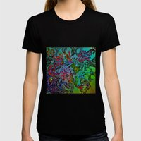 diamonds space magic Womens Fitted Tee Black SMALL