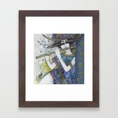 BLUE MELLODY Framed Art Print