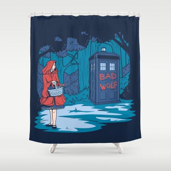 Big Bad Wolf Shower Curtain