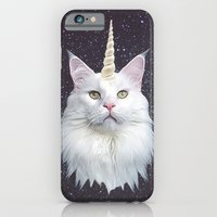 unicorn iPhone & iPod Cases featuring Unicorn Cat by Oh Monday