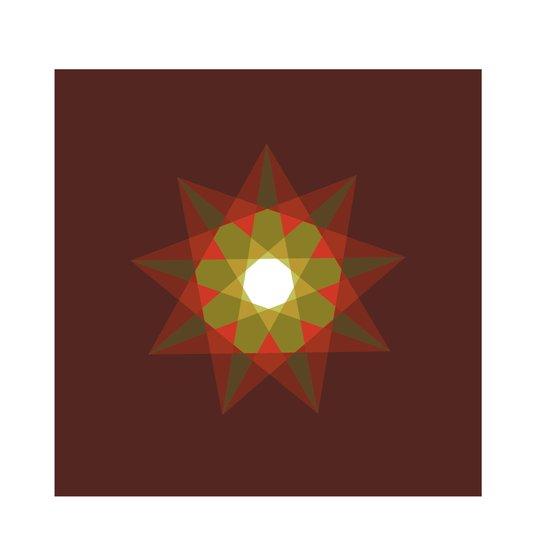#351 Nine-sided christmas star – Geometry Daily Art Print