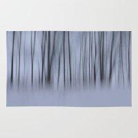 Winter woods Rug