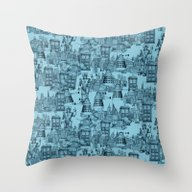 Doctor Who Toile De Jouy… Throw Pillow