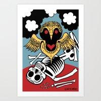 Búho de la Muerte Art Print