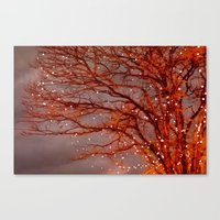 Magical In Red Canvas Print