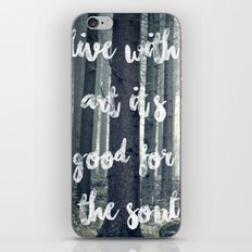 live with art iPhone & iPod Skin