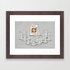 Wrong King Framed Art Print