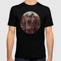 Into The Wild  SMALL Mens Fitted Tee Black