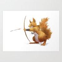 Barbarian squirrel Art Print