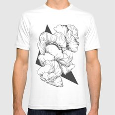 Petals Mens Fitted Tee White SMALL