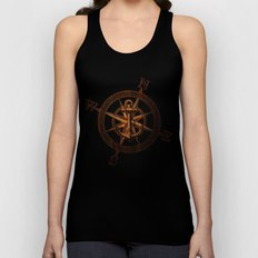 Wooden Anchor Unisex Tank Top
